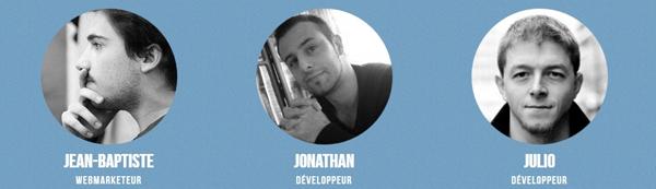 Jean-Baptiste, Jonathan et Julio de Wp Rocket