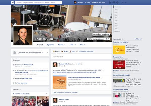 Profil Facebook Thomas Cubel