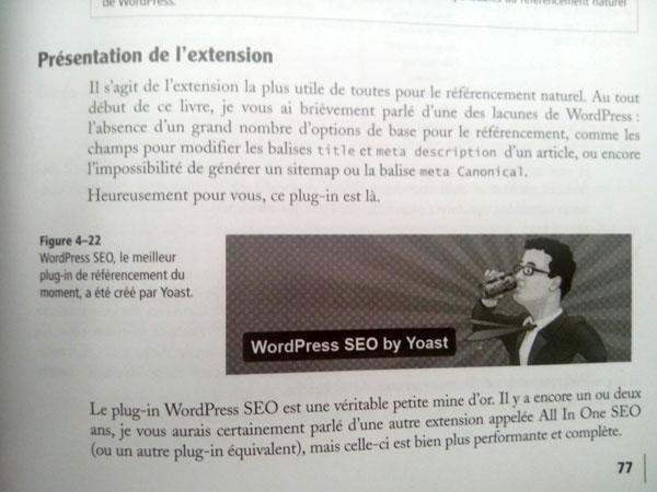 Présentation de WordPress SEO dans le livre
