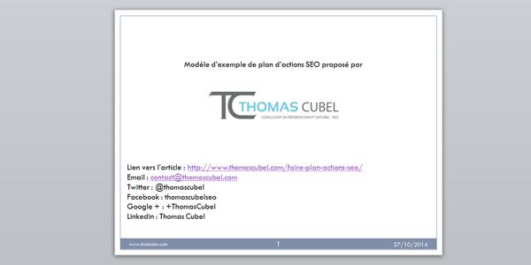 Slide powerpoint du modèle de plan d'actions