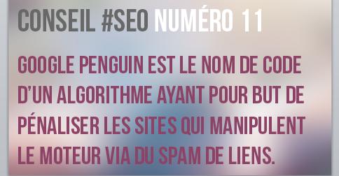 Googl penguin est un filtre anti spam de liens