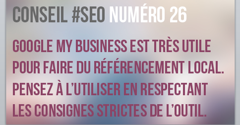Google my business est utile pour le SEO local