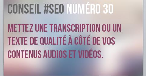 Mettez une transcription pour vos vidéos