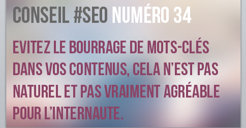 Evitez le keyword stuffing