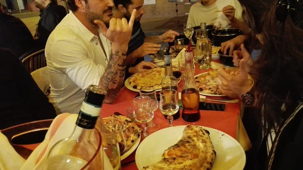 Assiette de pizza