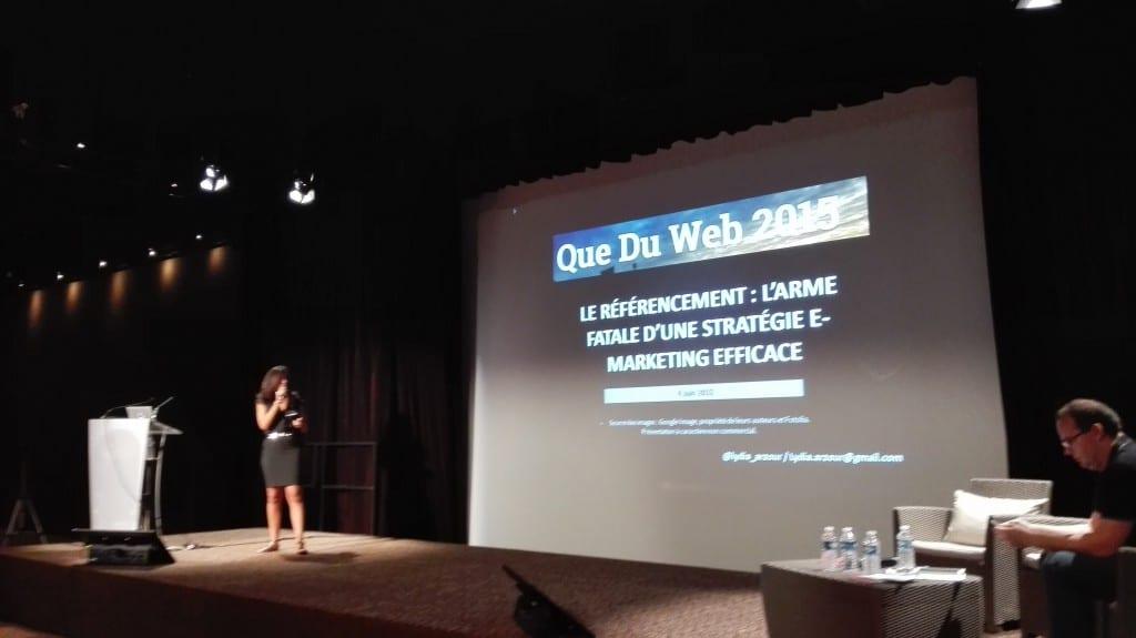 Lydia Arzour et sa conférence