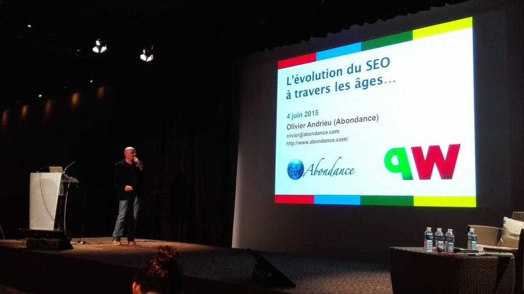 Olivier Andrieu et sa conférence