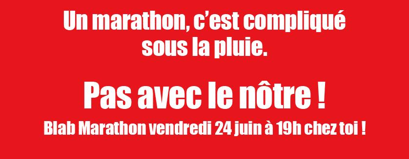 Affiche blab marathon