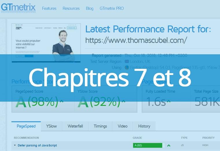 Chapitres 7 et 8 : optimisations technique et contenu