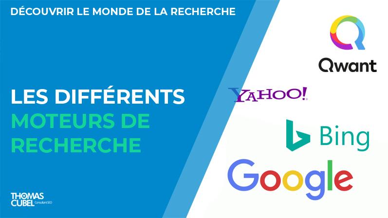 Les différents moteurs de recherche